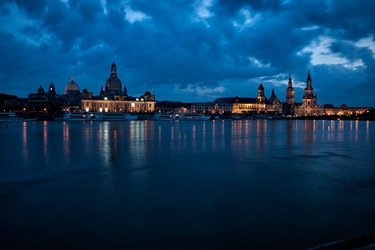 Dresden River at Night